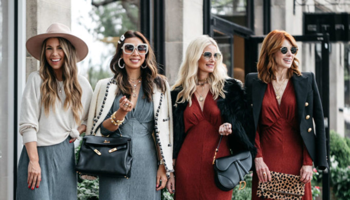 Chic at Every Age: Textured Long Sleeve Dress