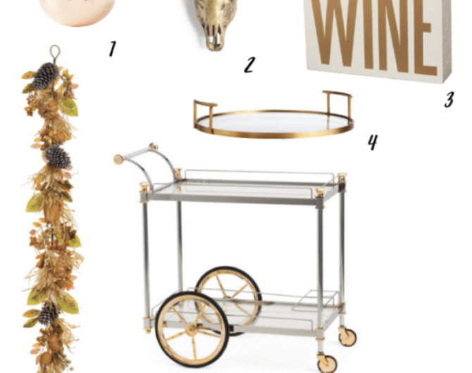Thanksgiving Bar Cart Décor